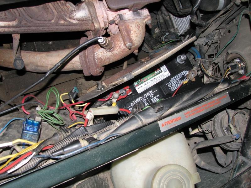 heatshield and power wiring